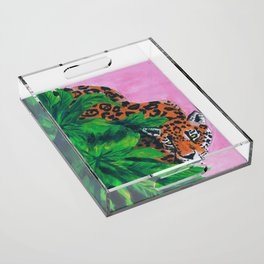 Jungle cat Acrylic Tray