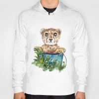 cheetah Hoodies featuring cheetah by Anna Shell