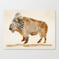 buffalo Canvas Prints featuring buffalo by bri.buckley