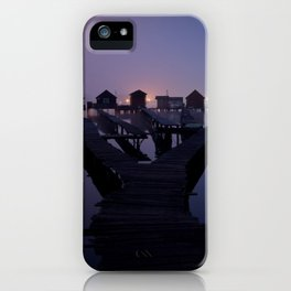 Houses on the lake iPhone Case