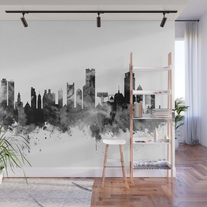 boston massachusetts skyline wall mural by artpause society6