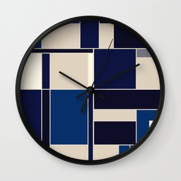 Blue abstract city Wall Clock