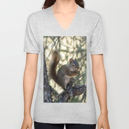 Soldotna Red Squirrel Unisex V-Neck