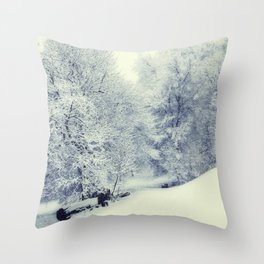 Snow World Throw Pillow