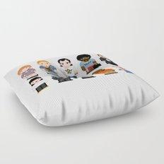 Pixel Pulp Fiction Characters Floor Pillow