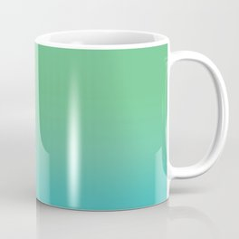 Green & Teal Ombre Coffee Mug