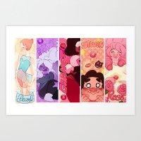 steven universe Art Prints featuring Steven Universe  by kuma naru