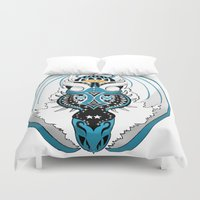 skyfall Duvet Covers featuring Skyfall Dragon by Pr0l0gue