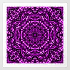 Floral Wrought Iron G67 Art Print