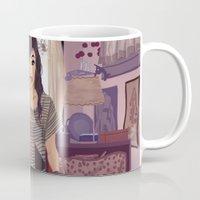 carmilla Mugs featuring Carmilla by Carla Griffin