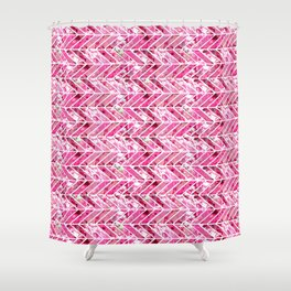 Cherry Bomb Chevron Shower Curtain