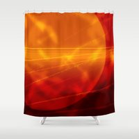 bruno mars Shower Curtains featuring Mars by renajoy