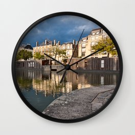 Nantes Riverside Scenery Wall Clock