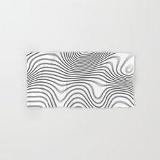 Organic Abstract 02 WHITE Hand & Bath Towel