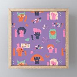Girl power Framed Mini Art Print