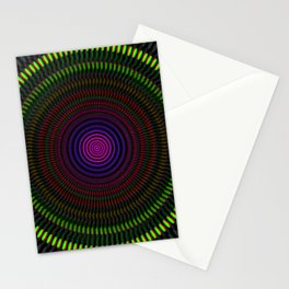 Optical illusion circles Stationery Cards