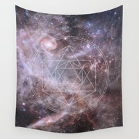 sacred geometry Wall Tapestries featuring Sacred Geometry Universe by Gaudy