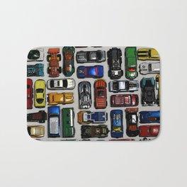 Toy cars pattern Bath Mat