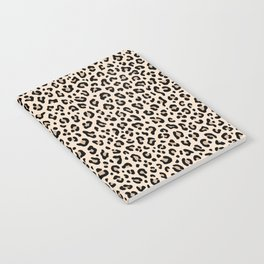 BLACK and WHITE LEOPARD PRINT – Ecru | Collection : Leopard spots – Punk Rock Animal Prints. Notebook