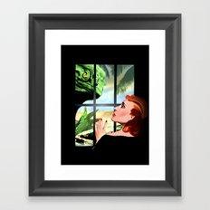 Through the Window Framed Art Print