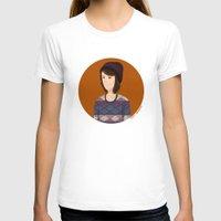 tegan and sara T-shirts featuring Tegan and Sara: Tegan portrait #3 by Cas.