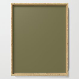 OLIVE DRAB solid color Serving Tray