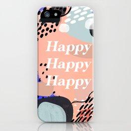 Happy Mantra iPhone Case