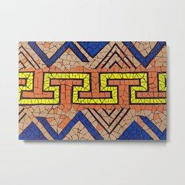 Religious art - traditional stone and ceramic tesserae Terrazzo Blobs Metal Print