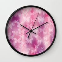 girly Wall Clocks featuring Girly! Girly! Girly! by Digi Treats 2