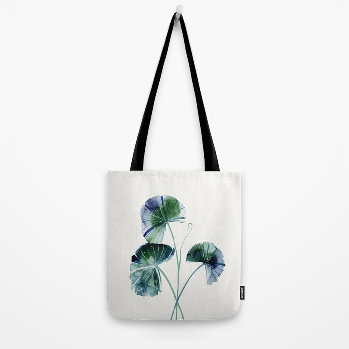 Water lily leaves Tote Bag