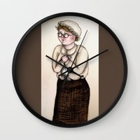 nurse Wall Clocks featuring Nurse by CokecinL