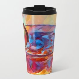 Cocktail Watercolor Metal Travel Mug