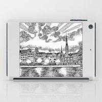 switzerland iPad Cases featuring Zurich, Switzerland by Luis Feliú