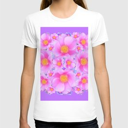 Lilac Purple & Pink Roses T-shirt