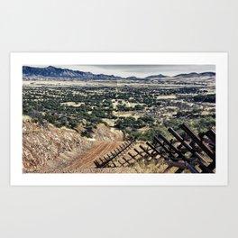 Border Fence Art Print