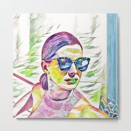 Anne Hathaway (Creative Illustration Art) Metal Print