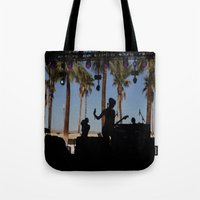 coachella Tote Bags featuring EMA / Coachella by The Electric Blue / Yen-Hsiang Liang (Gr