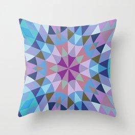 Lavender Retro Geometry Throw Pillow