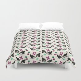 Anteaters and Flowers Duvet Cover