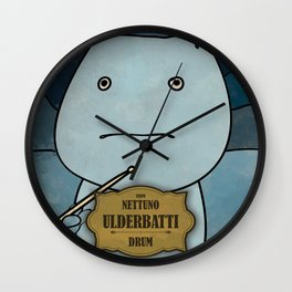Ulderbatti from Nettuno (Drum) Wall Clock
