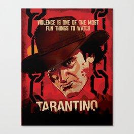 TARANTINO Unchained Canvas Print