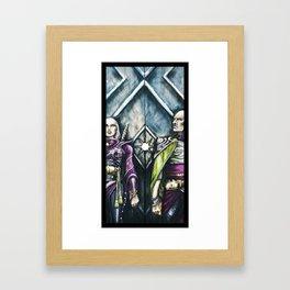Gate Guard Framed Art Print