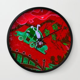 LSD in Red Wall Clock