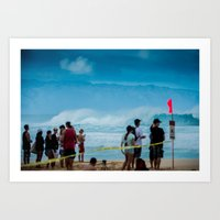 Pipemasters final day in Hawaii Art Print