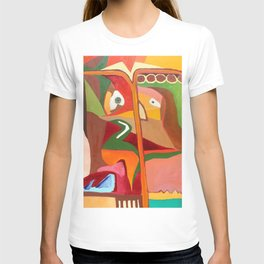 Lady with umbrella T-shirt