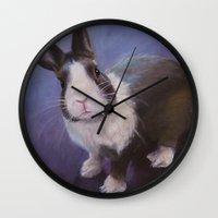 furry Wall Clocks featuring Furry Friend by Ashley Vanchu