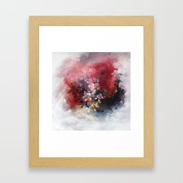 MORE - An abstract acrylic painting, flowing movement. Framed Art Print