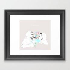 Smoke shower Framed Art Print