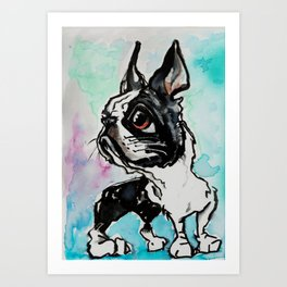 wc frenchie pup Art Print