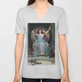Circe Offering The Cup To Odysseus - Digital Remastered Edition Unisex V-Neck